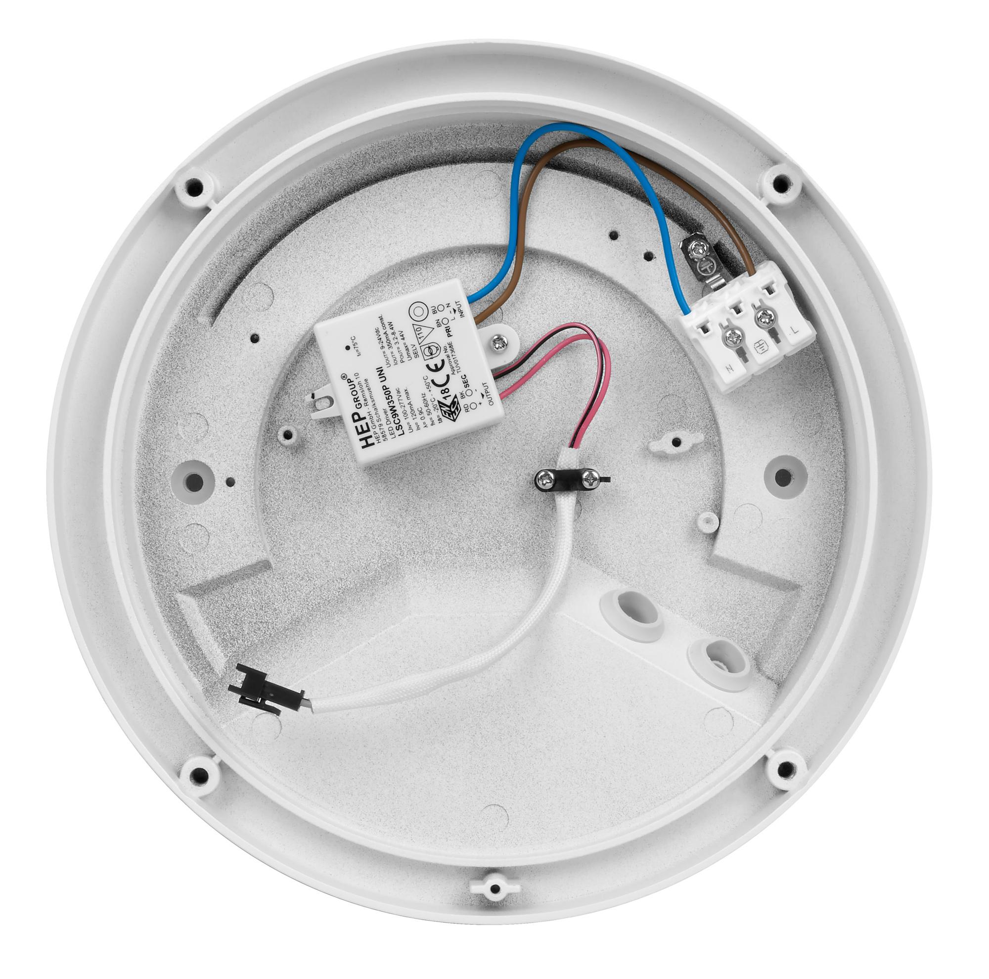 WDL 235- LED Aussenleuchte, Wand- und Deckenleuchte weiss